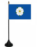 Yorkshire Desk / Table Flag with plastic stand and base.